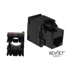 Conector CAT 6 UTP Hembra 180º, sin necesidad de herramienta (tipo Keystone)