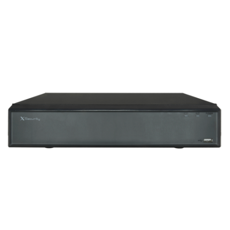 NVR IP hasta 8 canales, 8Mpx, 80Mbps, salida HDMI. X-SECURITY