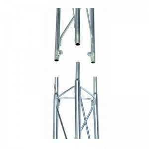"""Torreta tramo intermedio de 2.5m. Medida externa de 175mm, fijación tornillos W 3/8"""""""