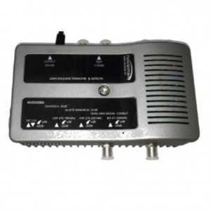 Central amplificadora 4 entradas UHF-VHF-BI/II-SAT. G30dB, 115 dBnV