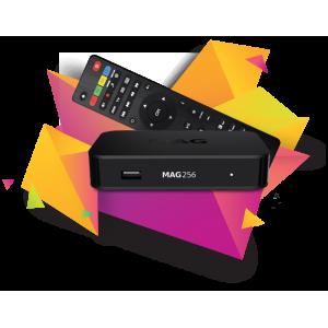 MAG256 IPTV Box: Nueva versión de MAG con tecnología HEVC para la prestación de vídeo de alta calidad con más velocidad.