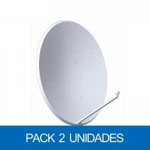 Antena parabólica de 110x100cms, 36,1dB, acero galvanizado, Pack de 2 unidades