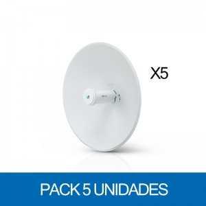 Punto de acceso Wifi exterior 5Ghz AC con antena 400mm, 24dBm (250mW) y 25dBi. Gen2