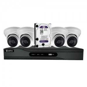 Kit PoC 4 domo 1080p + SF-HTVR6104AP +1TB