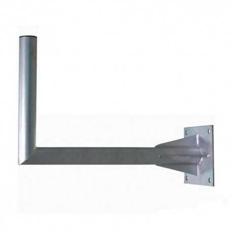 Soporte pared en L (antenas hasta 135cms), Diámetro 70mm, 640mm separación, placa 250x250mm, REFORZADO