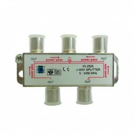 Repartidor 4 vias, 5-2450MHz. EDC.