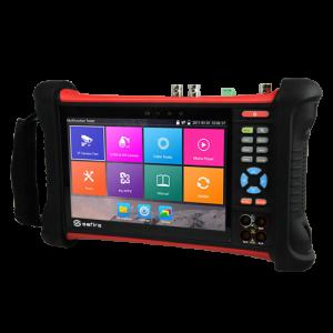 Tester CCTV multifuncional HDTVI, HDCVI, AHD, analógicas CVBS e IP - Pantalla LCD 7 táctil - Resolución 1920x1200