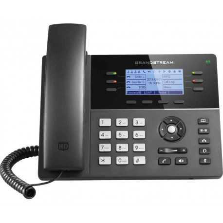"""Teléfono IP WIFI de 6 líneas, 3 cuentas SIP, 6 teclas de línea bicolor y 4 teclas XML programables, LCD de 3.3"""""""