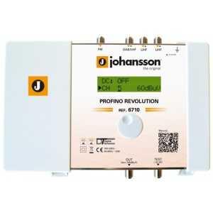 Central programable 20 filtros y 4 Entradas (x1 FM / x1 DAB-VHF / x2 UHF). 35-45dB G115dBu. 20dB ajuste de ganacia. AGC (Contro