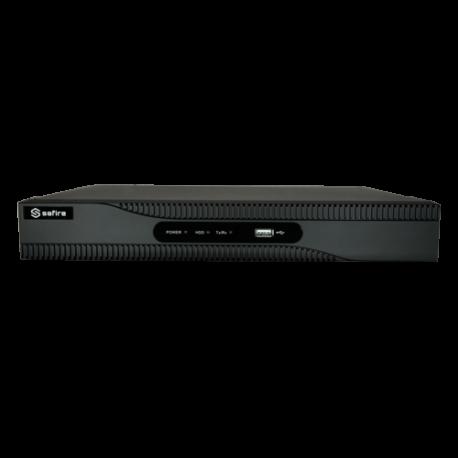 Grabador híbrido 5 en 1 AHD,TVI, CVI y CVBS, 16 canales PoC + 2 IP. 3Mpx, H.265+, Alarmas