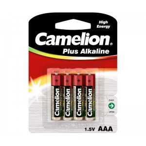 Paquete de 4 pilas Alcalinas LR03 AAA, 1,5V, Alcalina