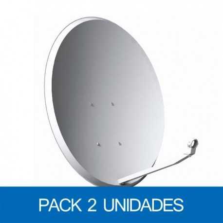 Antena parabólica 80x71cms, acero galvanizado. Embalaje 2 unidades.