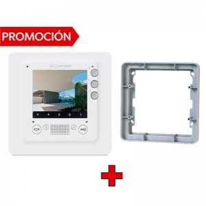 "Monitor modelo Smart, manos libres, color, 3,5"".Compatible con el Kit Quadra. 2 Hilos"