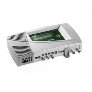 Modulador HD1080p UHF/VHF con 84dB de salida, 2 entradas de video (no simultáneas) y salida RF COFDM DVB-T con Calidad MER: &gt