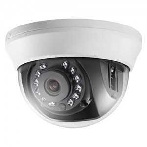 Cámara domo TVI, 720p, 2,8mm, IR 20mts. Interior, blanca.