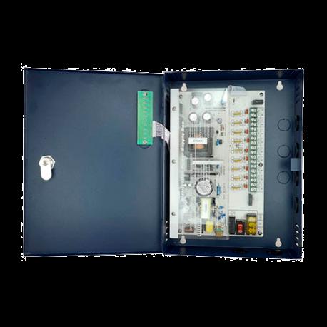 Fuente de alimentación 12V/10A, 9 salidas. 120W