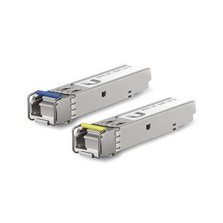 Pack de módulos SFP (1.25G SM 20kmT1550nm/R1310n). Ubiquiti