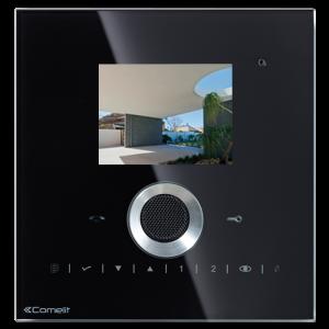 Monitor de recambio serie Planux, en color, manos libres y táctil. Color negro. 2+2 hilos