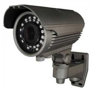 Cámara bullet 4 en 1, 720p, 2.8-12mm, IR 40mts. IP66, negra