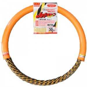 Guía pasa cables 30 metros y 7mm + funda. Poliéster trenzado. Color amarillo y negro